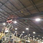 High Ceiling Security Camera Industrial Installation